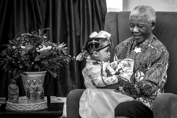Little Moment with Mandela