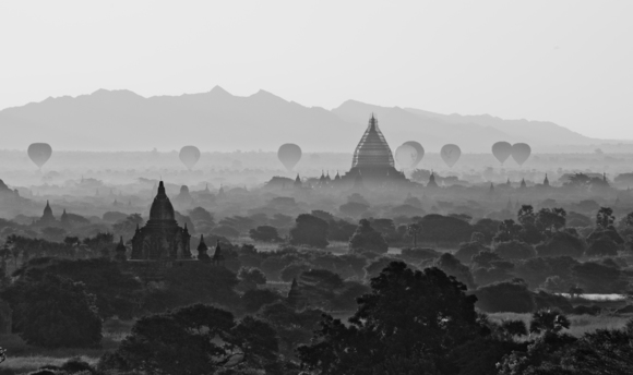 Balloons over Bagan, Myanmar.