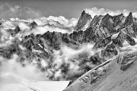 Alpinists in Chamonix