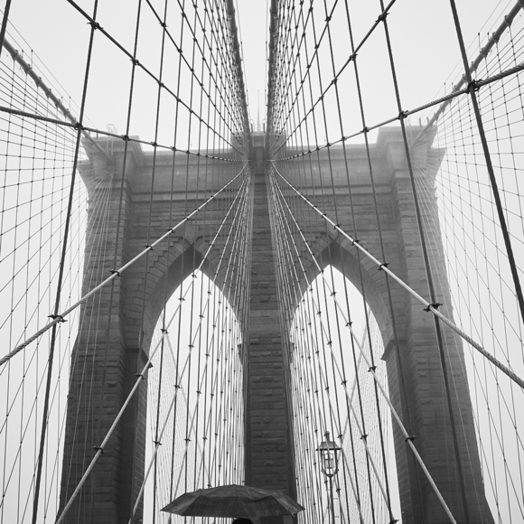 A Wet Day on the Bridge in NY