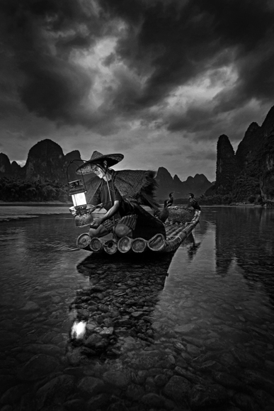 Cormorant fishing, China