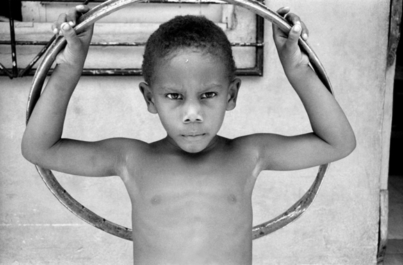 Boy with a hoop