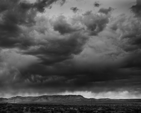 Rain over Davis Mountains