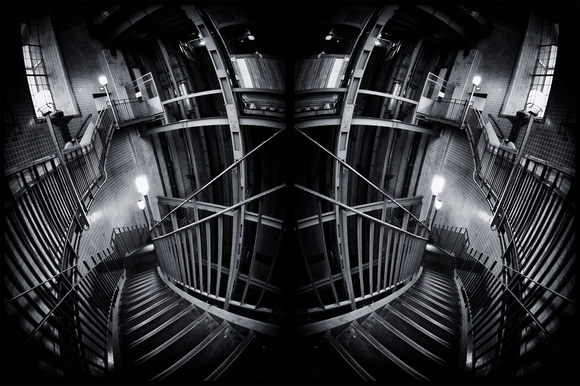 Abstract Elbtunnel Stairs
