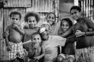Grandfather and Family Vanuatu