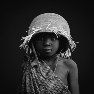 Mursi Girl in Omo Valley, Ethiopia, Africa