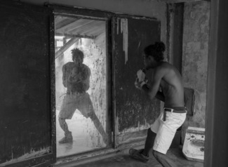 Shadow Boxing in Mirror