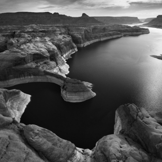 Lake Powell Near Forbidding Canyon Inlet.