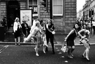 hen party in Newcastle, England