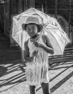 Girl with parasol, 2017