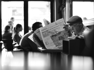 News at a Cafe