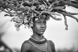 Dassanech Girl Carrying Firewood