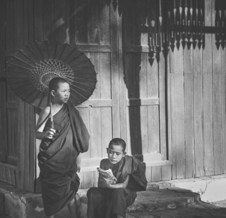 Novice Burmese Monks