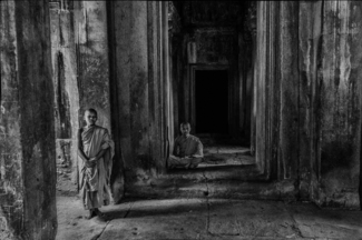 Novice Monks, Angkor Complex, Cambodia (1)