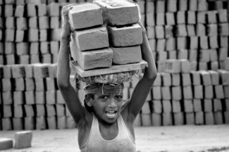 Boy Carrying Bricks, Bangladesh