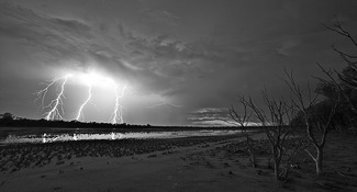 Foster Mary Jane Lightning Over Duck Lake