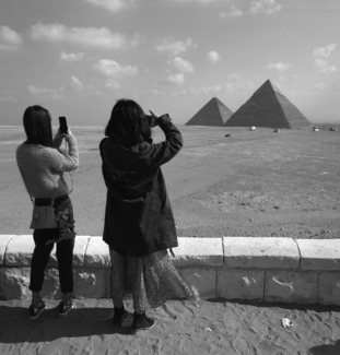 Photographing the Pyramids, Giza, Egypt, 2017