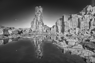 Moonrise at Bombo Quarry
