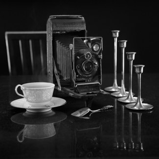 Goerz Camera and a Cup of Tea