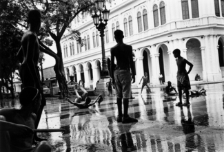 Sliding on the Prado, Havana