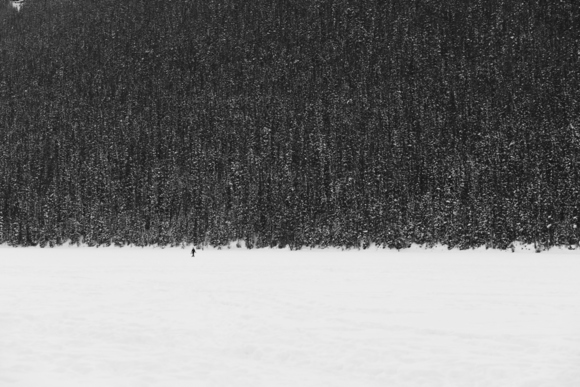 Lone Walker at Lake Louise