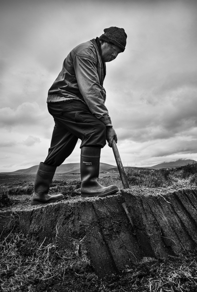 Mr. Gogan,Turf Cutter, Achill Island, Ireland