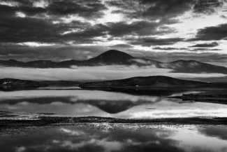 Evening reflections at Clew Bay Ireland