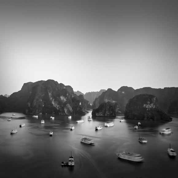 Touristic Boats in Ha Long Bay