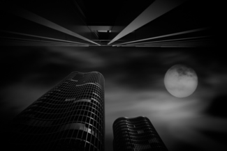 Skycraper and Full Moon