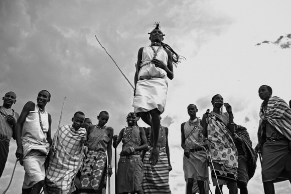 Masai Tribesmen in Traditional Dance called Adumu