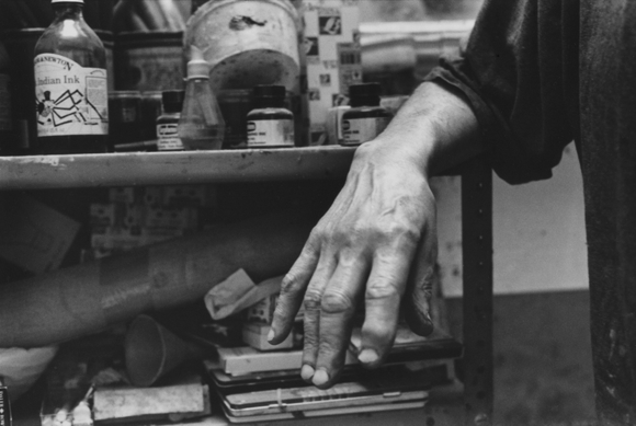 Hand of Frank Auerbach