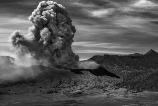 Volcanic Eruption of Mt Bromo