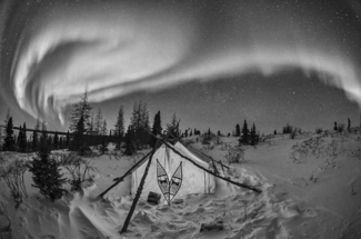 Arctic Northern Lights and Tent