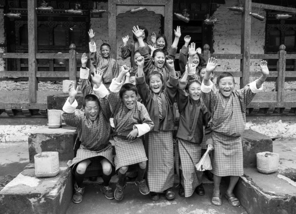 Bhutan School Children