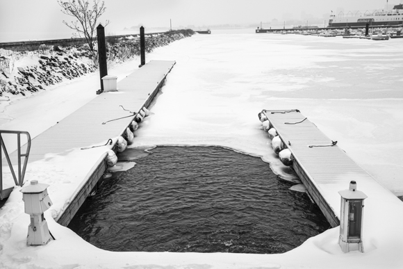 Chicago Boat Slip in Winter