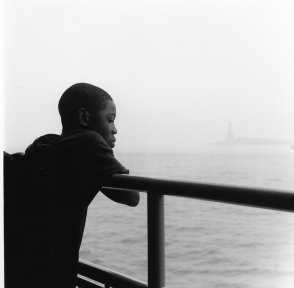 child on ferry
