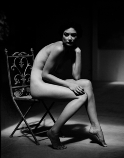 Nude in chair