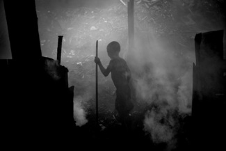 Hazardous child labour in the toxic charcoal plant