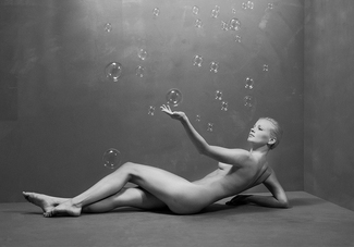 Nude with Bubbles