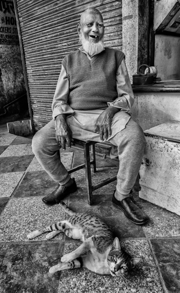The old man and his cat