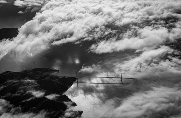 Golden Gate and Clouds