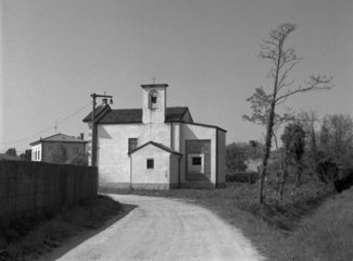small abandoned church in Lombardia