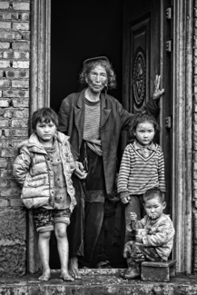 Grand Mother and Kids