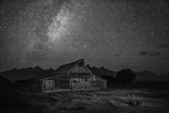Moulton's Barn and Milky Way