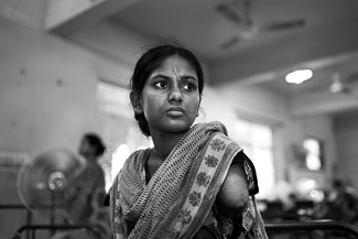 A survivor of the Rana Plaza building collapse