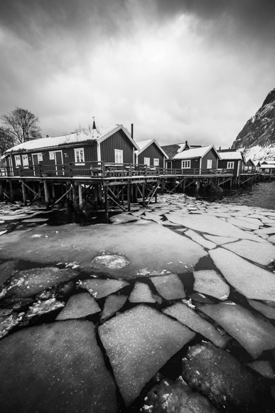 cabins on ice