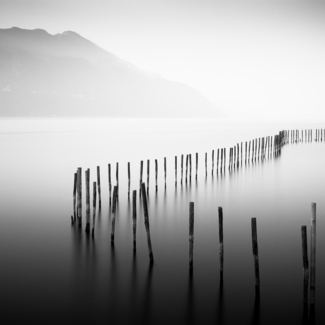 Stick Fence, Lake Bourget, France