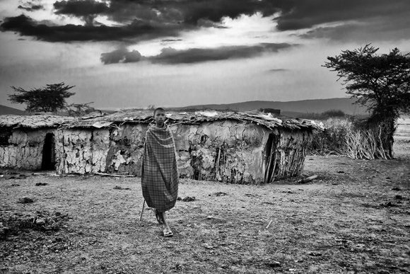 Young Maasai in Village