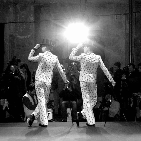 Viktor & Rolf during the show Pitti Uo