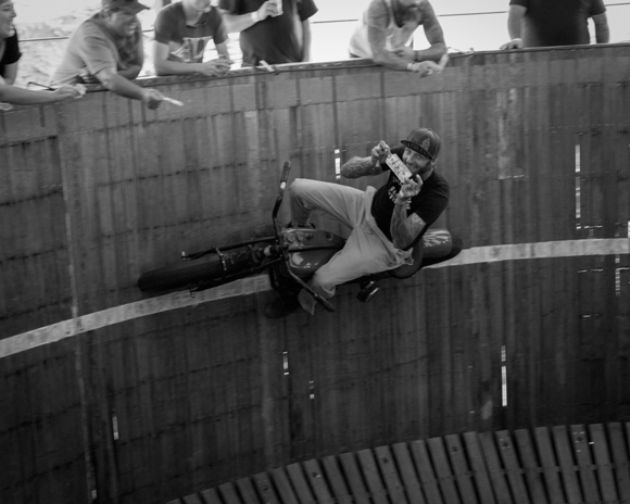 Rhett Rotten riding the Wall of Death